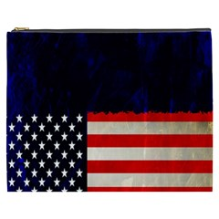 Grunge American Flag Background Cosmetic Bag (xxxl)  by Nexatart