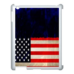 Grunge American Flag Background Apple Ipad 3/4 Case (white) by Nexatart