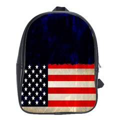 Grunge American Flag Background School Bags (xl)  by Nexatart