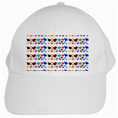 A Creative Colorful Background With Hearts White Cap by Nexatart