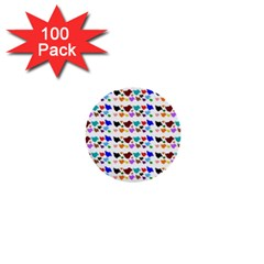 A Creative Colorful Background With Hearts 1  Mini Buttons (100 Pack)  by Nexatart