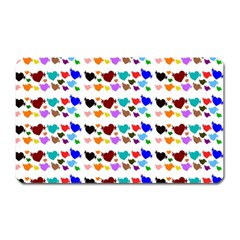 A Creative Colorful Background With Hearts Magnet (rectangular) by Nexatart
