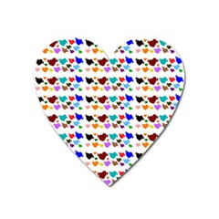 A Creative Colorful Background With Hearts Heart Magnet by Nexatart