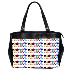 A Creative Colorful Background With Hearts Office Handbags (2 Sides)  by Nexatart