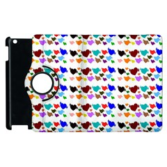 A Creative Colorful Background With Hearts Apple Ipad 2 Flip 360 Case by Nexatart