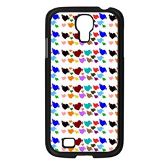 A Creative Colorful Background With Hearts Samsung Galaxy S4 I9500/ I9505 Case (black) by Nexatart