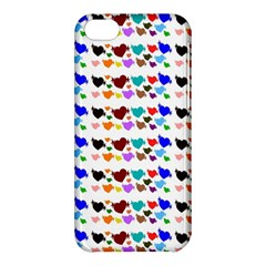 A Creative Colorful Background With Hearts Apple Iphone 5c Hardshell Case by Nexatart