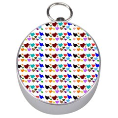 A Creative Colorful Background With Hearts Silver Compasses by Nexatart