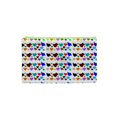 A Creative Colorful Background With Hearts Cosmetic Bag (xs) by Nexatart