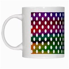 Digital Polka Dots Patterned Background White Mugs by Nexatart