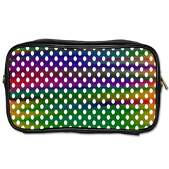 Digital Polka Dots Patterned Background Toiletries Bags 2 Side by Nexatart