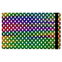 Digital Polka Dots Patterned Background Apple Ipad 2 Flip Case by Nexatart