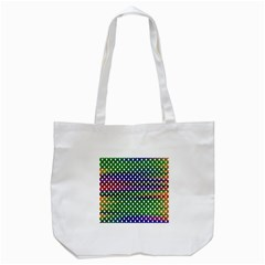 Digital Polka Dots Patterned Background Tote Bag (white) by Nexatart