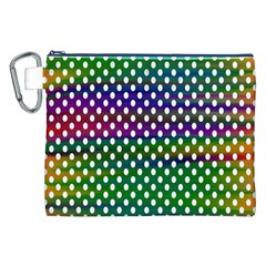 Digital Polka Dots Patterned Background Canvas Cosmetic Bag (xxl) by Nexatart