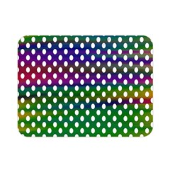 Digital Polka Dots Patterned Background Double Sided Flano Blanket (mini)  by Nexatart
