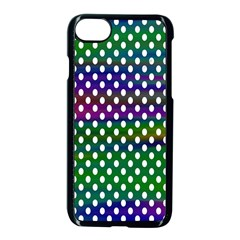 Digital Polka Dots Patterned Background Apple Iphone 7 Seamless Case (black) by Nexatart