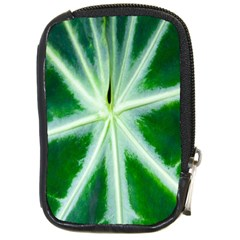 Green Leaf Macro Detail Compact Camera Cases by Nexatart
