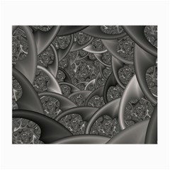 Fractal Black Ribbon Spirals Small Glasses Cloth by Nexatart