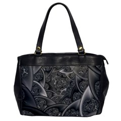 Fractal Black Ribbon Spirals Office Handbags by Nexatart