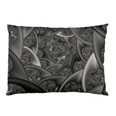 Fractal Black Ribbon Spirals Pillow Case (two Sides) by Nexatart