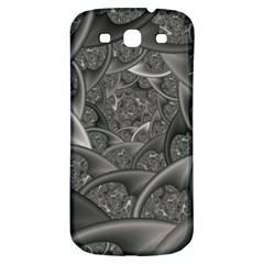 Fractal Black Ribbon Spirals Samsung Galaxy S3 S Iii Classic Hardshell Back Case by Nexatart