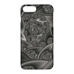 Fractal Black Ribbon Spirals Apple Iphone 7 Plus Hardshell Case by Nexatart