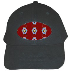 Geometric Seamless Pattern Digital Computer Graphic Black Cap