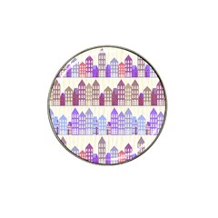 Houses City Pattern Hat Clip Ball Marker (10 Pack) by Nexatart