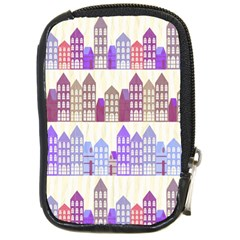 Houses City Pattern Compact Camera Cases by Nexatart