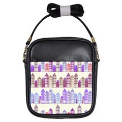 Houses City Pattern Girls Sling Bags by Nexatart