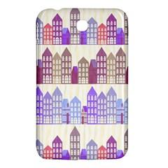 Houses City Pattern Samsung Galaxy Tab 3 (7 ) P3200 Hardshell Case  by Nexatart