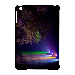 Illuminated Trees At Night Apple Ipad Mini Hardshell Case (compatible With Smart Cover) by Nexatart