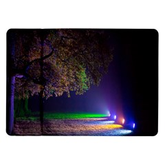 Illuminated Trees At Night Samsung Galaxy Tab 10 1  P7500 Flip Case by Nexatart