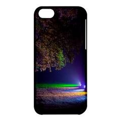 Illuminated Trees At Night Apple Iphone 5c Hardshell Case by Nexatart
