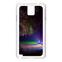 Illuminated Trees At Night Samsung Galaxy Note 3 N9005 Case (white)