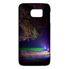 Illuminated Trees At Night Galaxy S6 by Nexatart