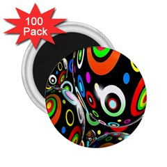 Background Balls Circles 2 25  Magnets (100 Pack)  by Nexatart
