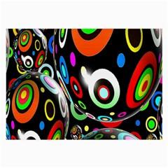Background Balls Circles Large Glasses Cloth (2-Side)