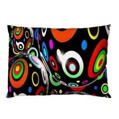 Background Balls Circles Pillow Case by Nexatart