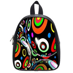 Background Balls Circles School Bags (small)  by Nexatart