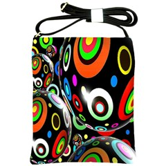 Background Balls Circles Shoulder Sling Bags by Nexatart