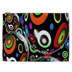 Background Balls Circles Cosmetic Bag (xxl)  by Nexatart