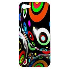 Background Balls Circles Apple Iphone 5 Hardshell Case by Nexatart