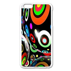 Background Balls Circles Apple Iphone 6 Plus/6s Plus Enamel White Case by Nexatart