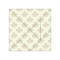 Seamless Floral Pattern Acrylic Tangram Puzzle (4  X 4 ) by TastefulDesigns