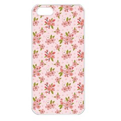Beautiful Hand Drawn Flowers Pattern Apple Iphone 5 Seamless Case (white) by TastefulDesigns