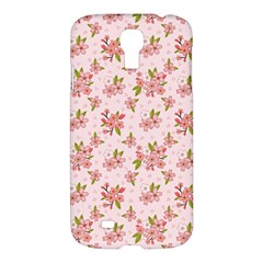 Beautiful Hand Drawn Flowers Pattern Samsung Galaxy S4 I9500/i9505 Hardshell Case by TastefulDesigns