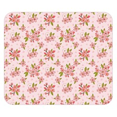 Beautiful Hand Drawn Flowers Pattern Double Sided Flano Blanket (small)  by TastefulDesigns