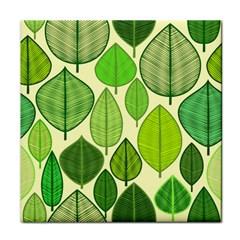 Leaves Pattern Design Tile Coasters by TastefulDesigns