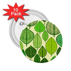 Leaves Pattern Design 2 25  Buttons (10 Pack)  by TastefulDesigns